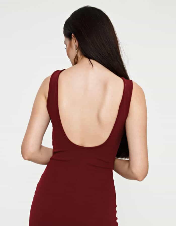 Φόρεμα κρέπ μίντι 3