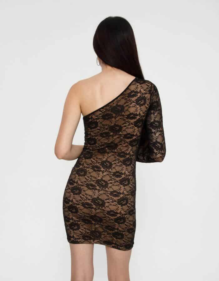 Φόρεμα δαντέλα με έναν ώμο 2