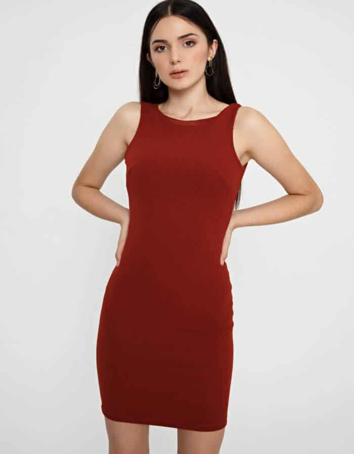 Φόρεμα κρέπ μίντι 2