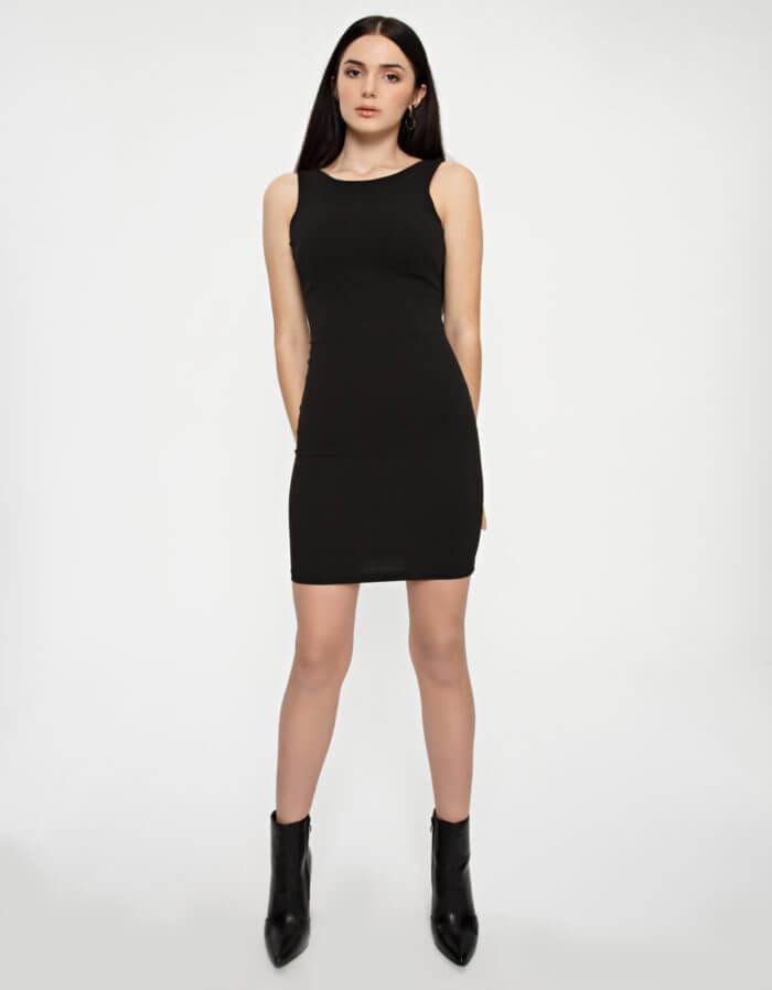 Φόρεμα κρέπ μίντι 1