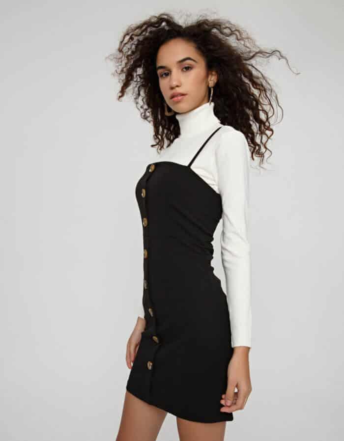 Φόρεμα σκούμπα με κουμπιά 2