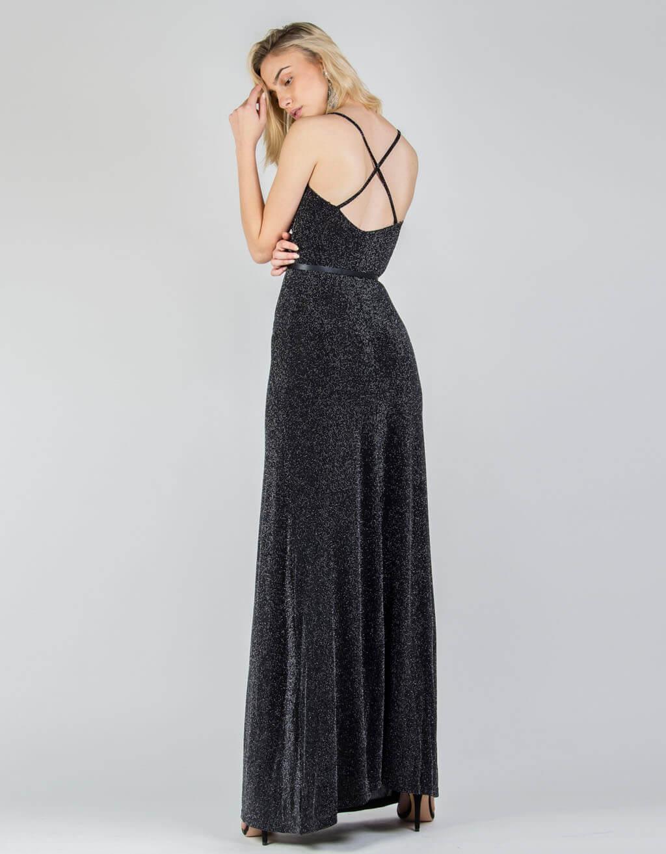 Φόρεμα λούρεξ, ντραπέ maxi 2