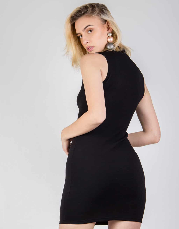 Φόρεμα Γκοφρέ ελαστικό με χαρακιά 3