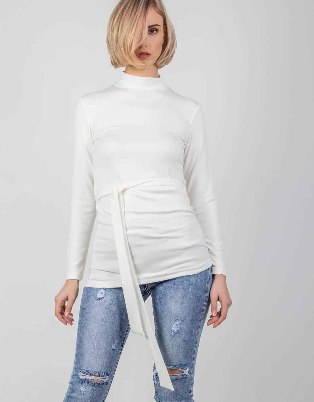 Μπλούζα, λεπτή πλεκτή με λουπέτο 1