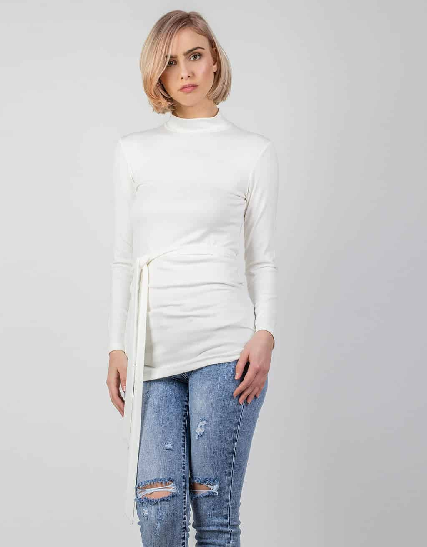 Μπλούζα, λεπτή πλεκτή με λουπέτο 2