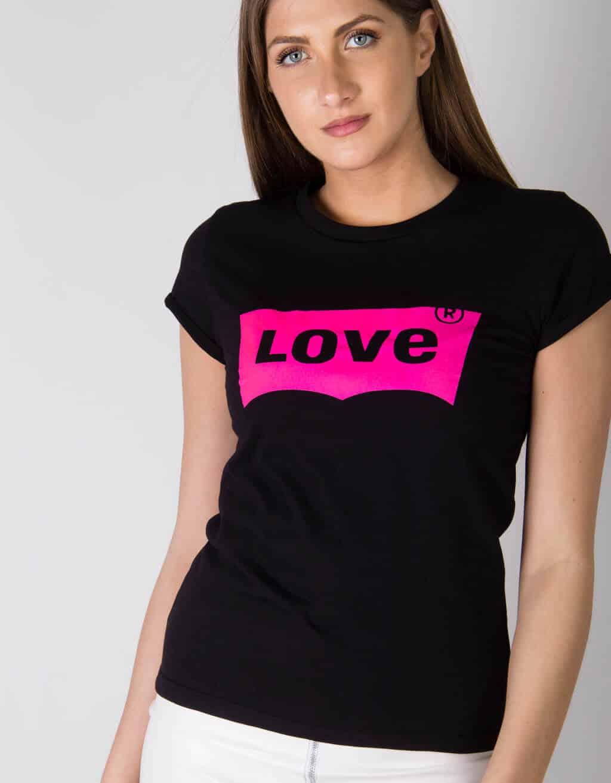 "T-shirt με στάμπα ""LOVE"" 1"