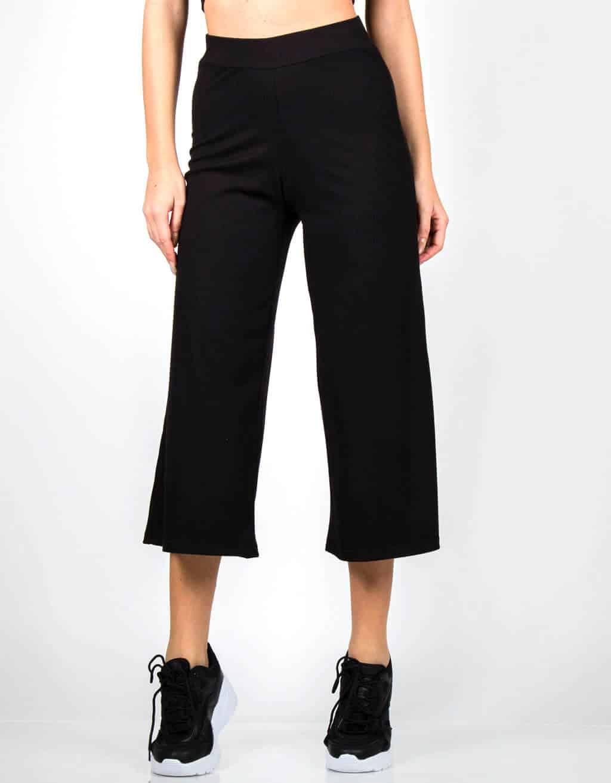 Παντελόνι ζυπ-κιλοτ rib ψηλόμεσο 1