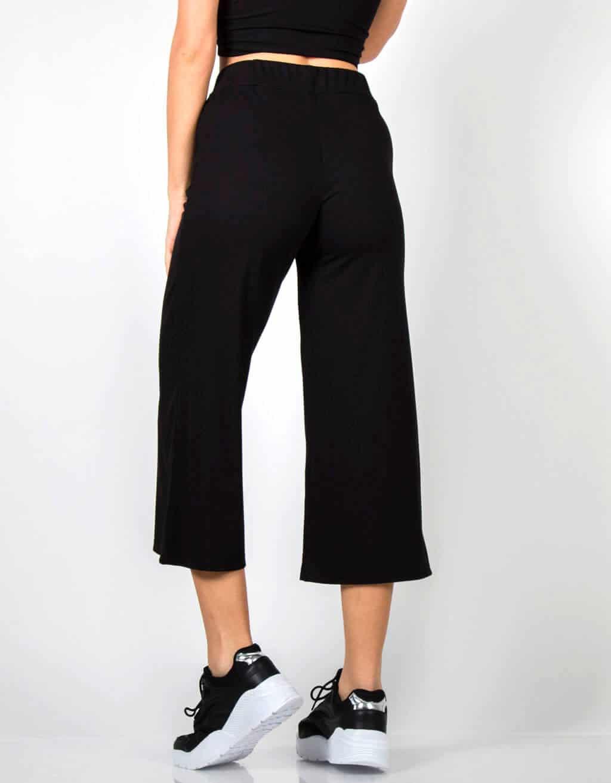 Παντελόνι ζυπ-κιλοτ rib ψηλόμεσο 2