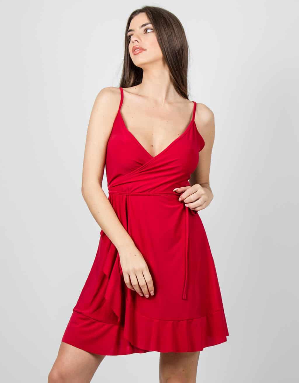 Φόρεμα κρουαζέ με βολάν 1
