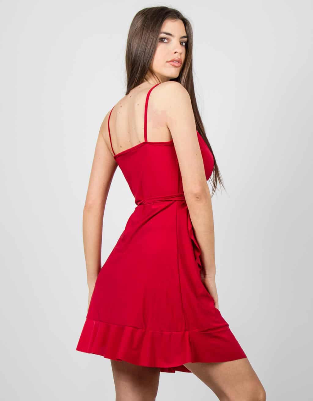 Φόρεμα κρουαζέ με βολάν 2