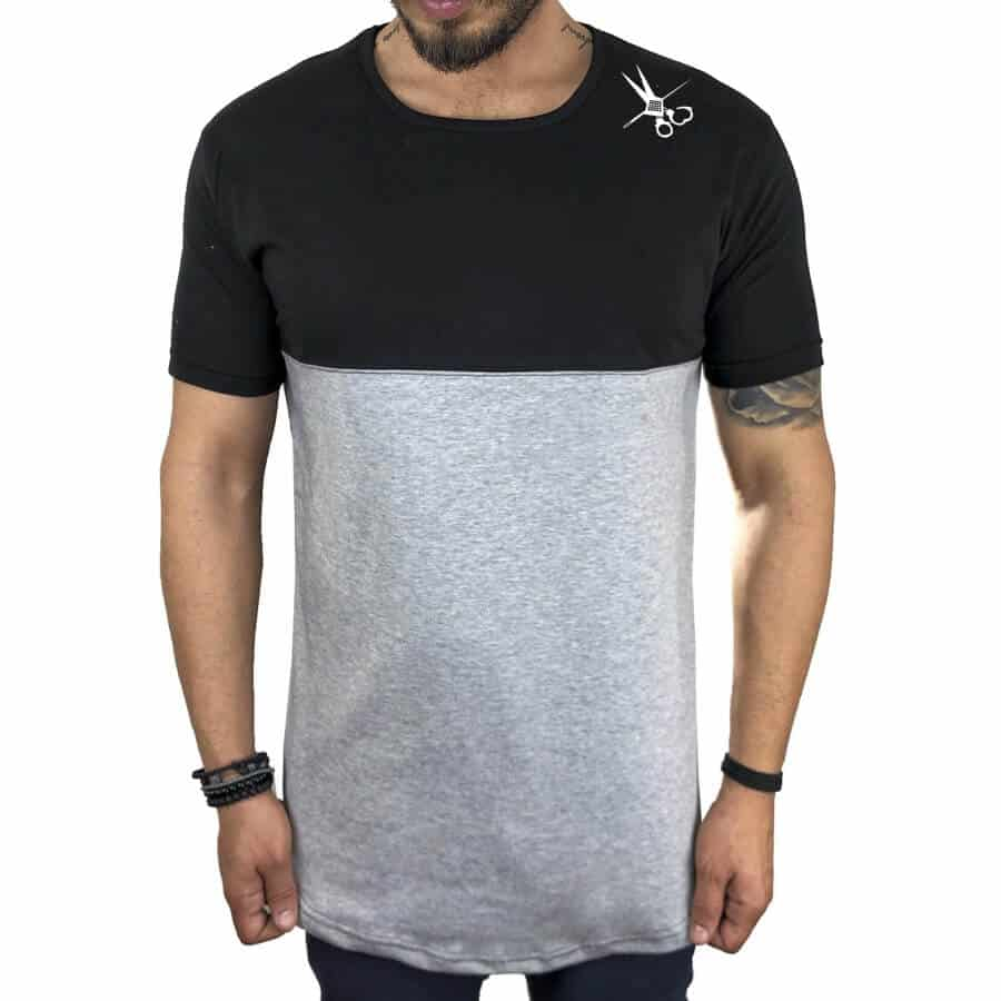 T-shirt half γκρι 1