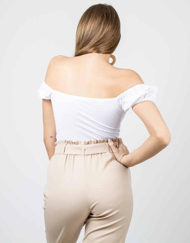 Μπλούζα με παρτούς ώμους και φούσκα μανίκι 2