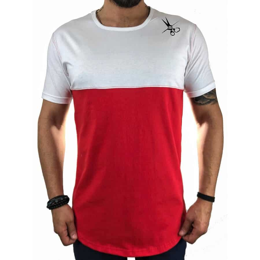 T-shirt half κόκκινο 1