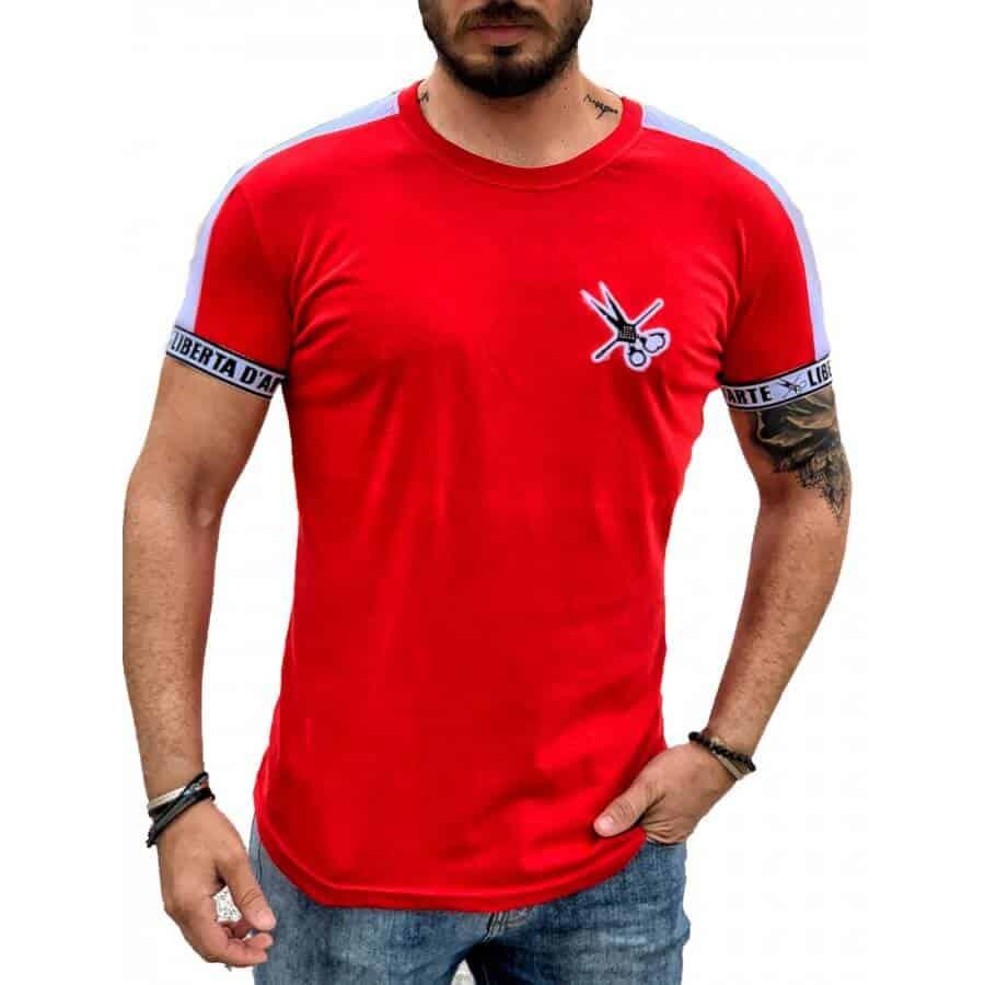 T-shirt με ρίγα στα μανίκια 2