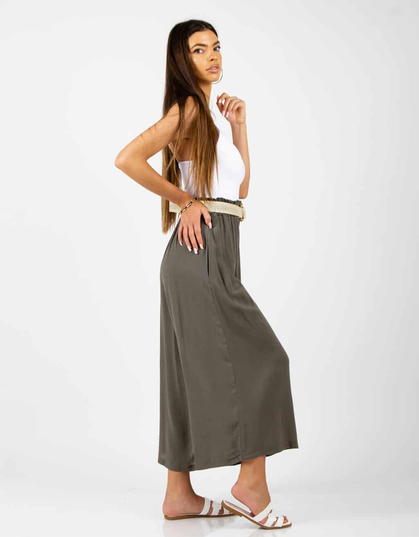 Παντελόνι ζιπ-κιλοτ ψηλόμεσο 3