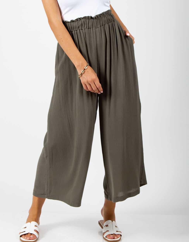 Παντελόνι ζιπ-κιλοτ ψηλόμεσο 1