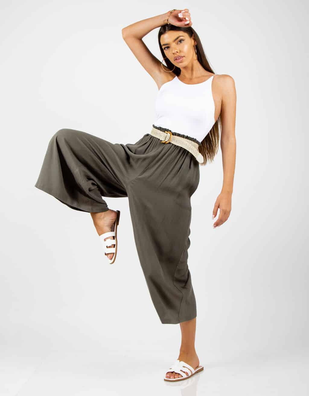 Παντελόνι ζιπ-κιλοτ ψηλόμεσο 2