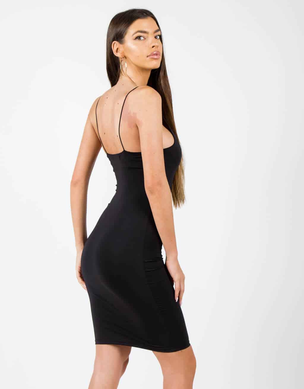 Φόρεμα με λεπτή τιράντα 4
