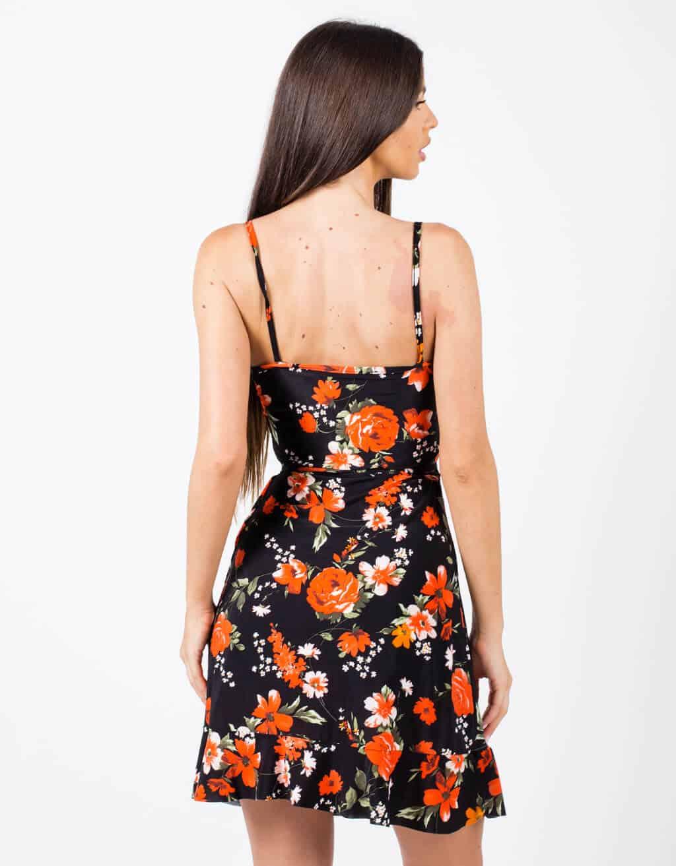 Φόρεμα κρουαζέ floral 2
