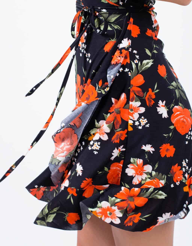 Φόρεμα κρουαζέ floral 4