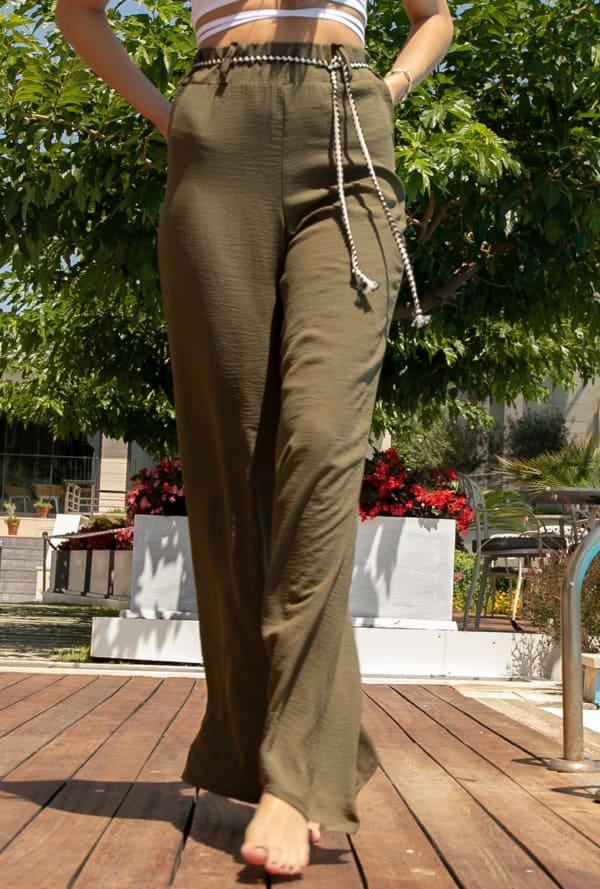 Παντελονα Λινή Γυναικεία Ψηλόμεση σε One Size